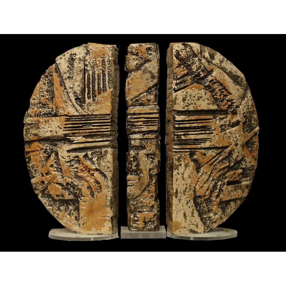 Agorà (metallo fuso in lega leggera patinata a fuoco)