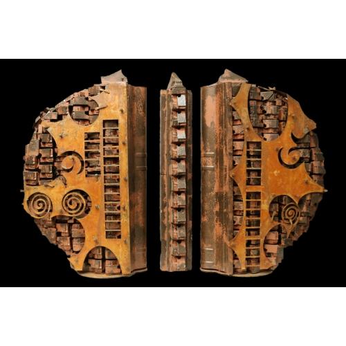 Agorà 2.0 (legno patinato e ferro ossidato)